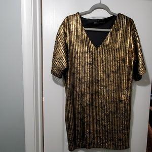 Zara black and Gold Dress